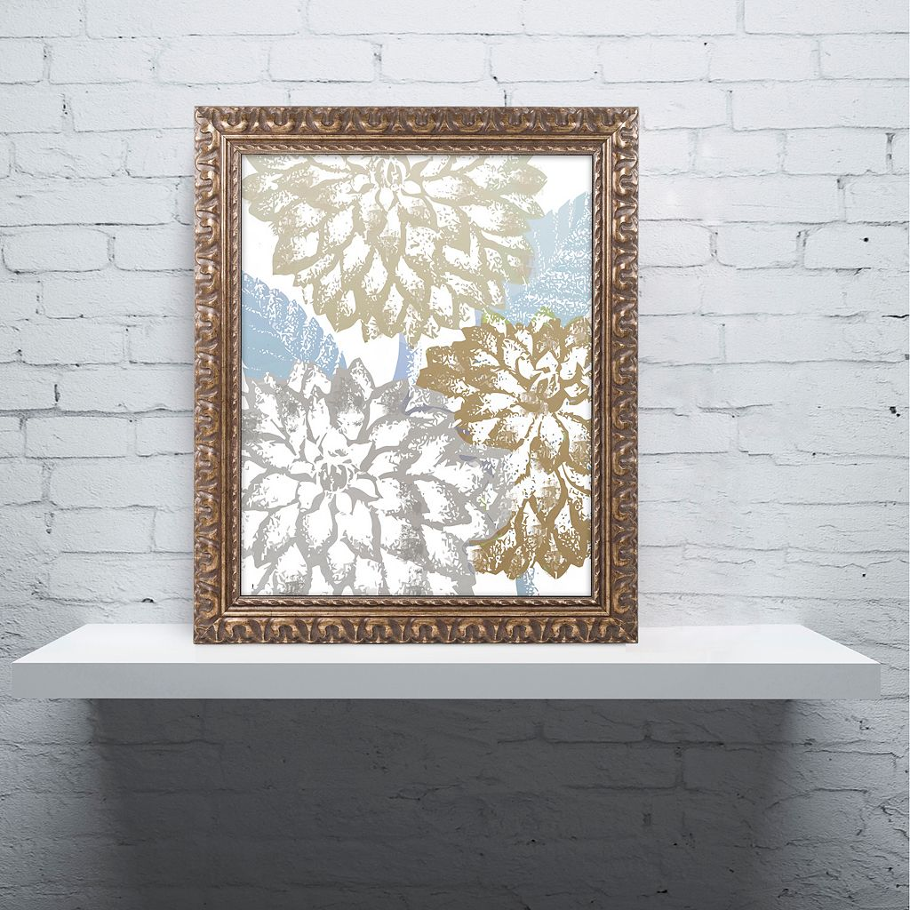 Trademark Fine Art Sea Dahlias II Ornate Framed Wall Art