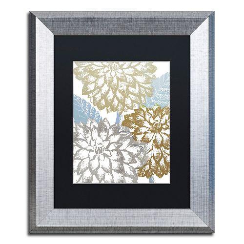 Trademark Fine Art Sea Dahlias II Silver Finish Framed Wall Art