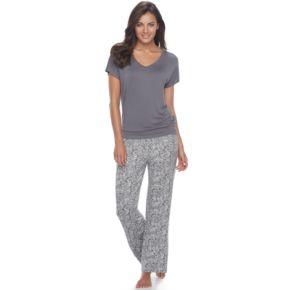 Women's Apt. 9® Pajamas: Lace Back Tee & Pants PJ Set