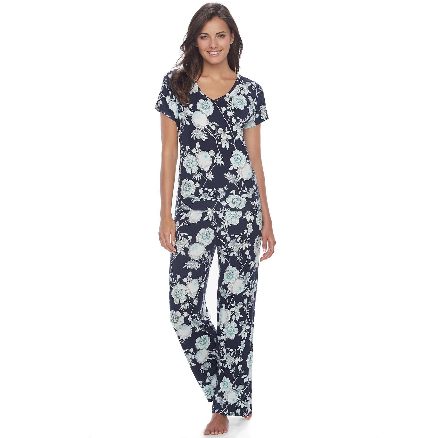 2979239_Navy_Floral?wid=240&hei=240&op_sharpen=1 womens pajamas, robes & sleepwear kohl's,Womens Underwear Or Night Clothes 8 Letters