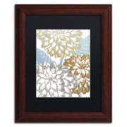 Trademark Fine Art Sea Dahlias II Framed Wall Art