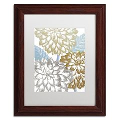 Trademark Fine Art Sea Dahlias II Framed Wall Art