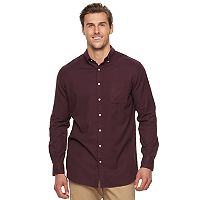 Big & Tall SONOMA Goods for Life™ Modern-Fit Flexwear Oxford Button-Down Shirt