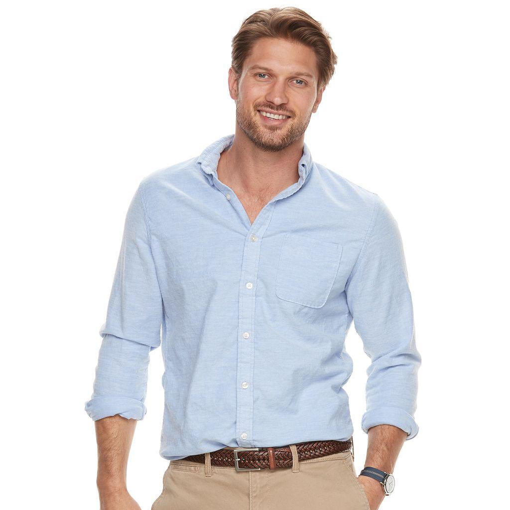 Big & Tall SONOMA Goods for Life™ Modern-Fit Flexwear Oxford Button-Down Shirt