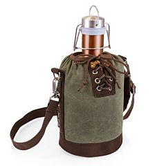 Picnic Time 64-oz. Copper-Colored Stainless Steel Growler with Tote