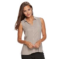 Women's Dana Buchman Sleeveless Collared Blouse