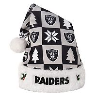 FOCO Oakland Raiders Christmas Santa Hat