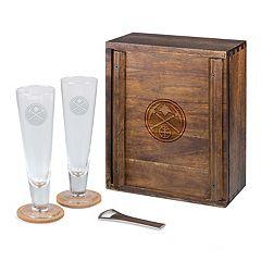 Picnic Time Denver Nuggets Pilsner Beer Gift Set for 2