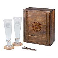 Picnic Time Golden State Warriors Pilsner Beer Gift Set for 2