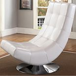 Baxton Studio Elsa Modern Faux-Leather Accent Chair