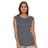 Women's Dana Buchman Button-Shoulder Top