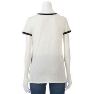 """Juniors' THE PRINT SHOP """"Choose to Be Salty"""" Oversized Ringer Tee"""