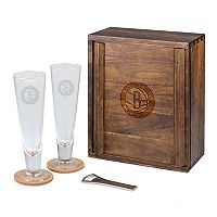 Picnic Time Brooklyn Nets Pilsner Beer Gift Set for 2