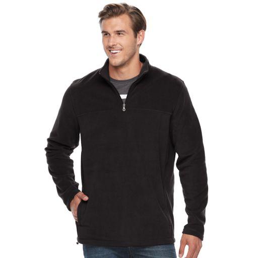 Big & Tall Croft & Barrow® Classic-Fit Arctic Fleece Quarter-Zip Pullover