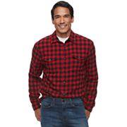 Men's SONOMA Goods for Life™ Plaid Flannel Button-Down Shirt