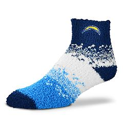Women's For Bare Feet Los Angeles Chargers Marquee Sleep Socks