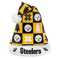 FOCO Pittsburg Steelers Christmas Santa Hat