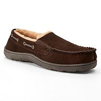 Men's Chaps Suede Twin Gore Venetian Moccasin Slippers