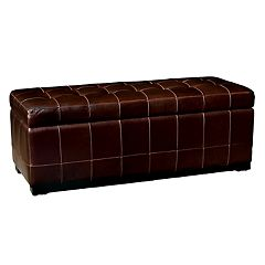 Baxton Studio Contemporary Faux-Leather Storage Bench