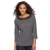 Women's Croft & Barrow® Crochet Top