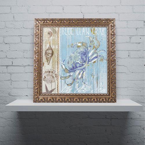 Trademark Fine Art Blue Crab I Ornate Framed Wall Art