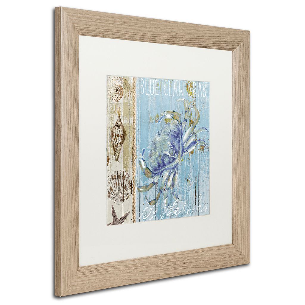 Trademark Fine Art Blue Crab I Distressed Framed Wall Art