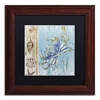 Trademark Fine Art Blue Crab I Framed Wall Art