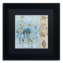 Trademark Fine Art Blue Crab II Black Framed Wall Art