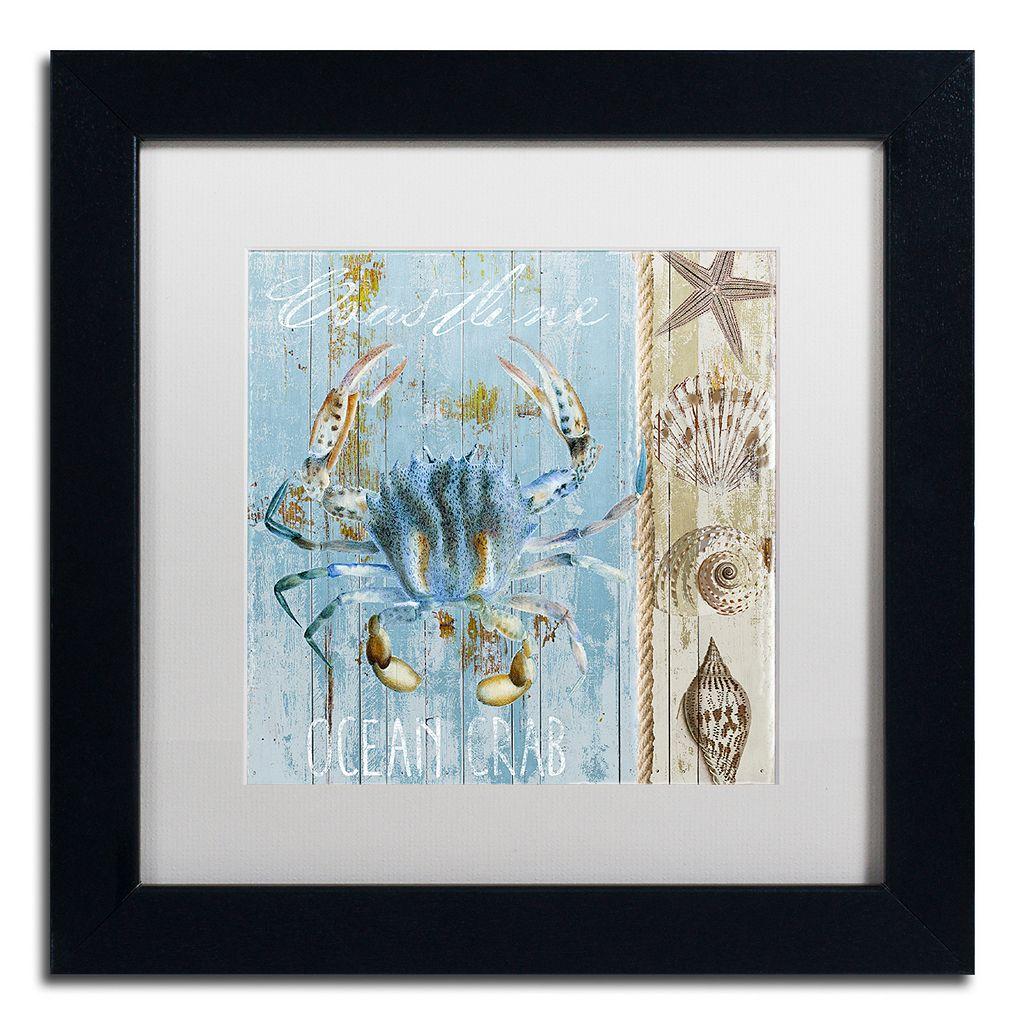 Trademark Fine Art Blue Crab II Black Framed Wall Art