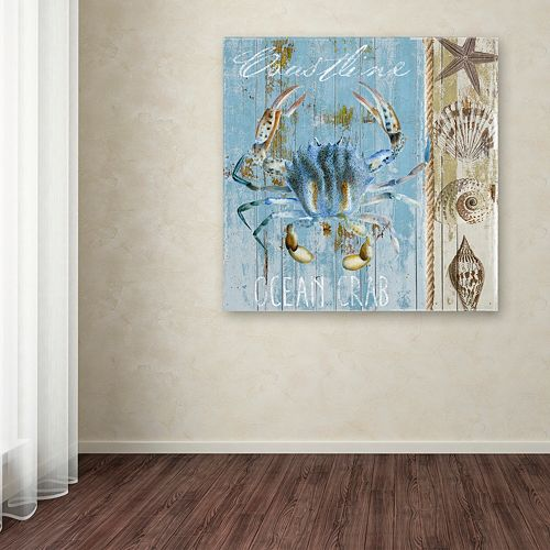 Trademark Fine Art Blue Crab II Canvas Wall Art