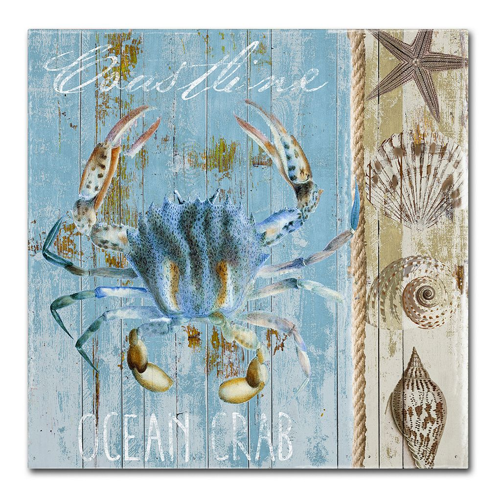 Trademark Fine Art Blue Crab II Canvas Wall Art