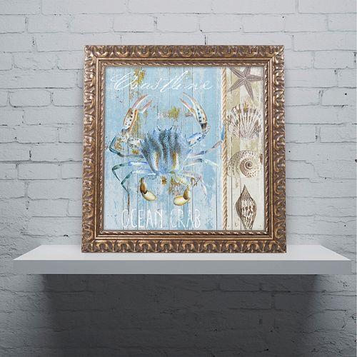 Trademark Fine Art Blue Crab II Ornate Framed Wall Art