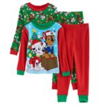 Toddler Boy Paw Patrol 4-pc. Christmas Marshall & Chase Pajama Set
