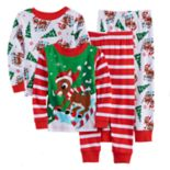 Toddler Boy Rudolph the Red Nosed Reindeer Striped Pajama Set