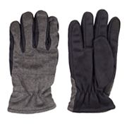 Men's Dockers® Quilted Microfiber Faux-Fur Gloves