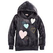 Girls 4-10 Jumping Beans® Hooded Plush Pullover
