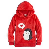 Girls 4-10 Jumping Beans® Hooded Plush Pullover