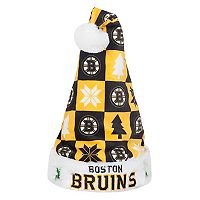 FOCO Boston Bruins Christmas Santa Hat
