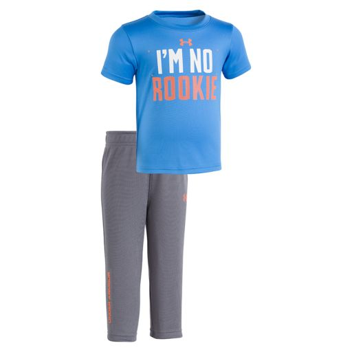 """Baby Boy Under Armour """"I'm No Rookie"""" Tee & Pants Set"""