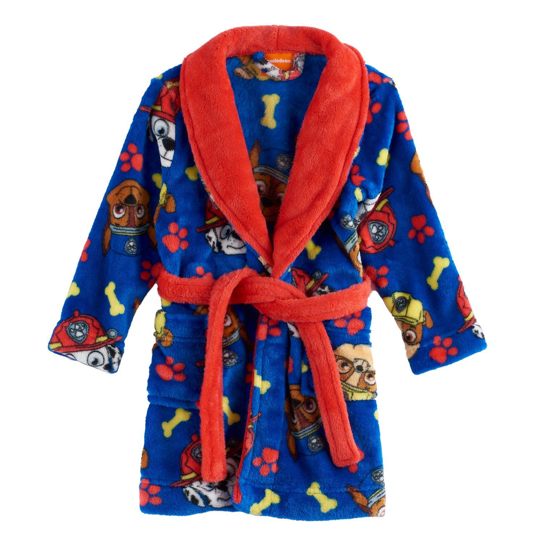 Paw Patrol Toddler Boys Blue Plush Robe Size 2T 3T 4T 5T $40