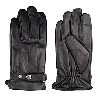 Men's Dockers® InteliTouch Leather Touchscreen Gloves