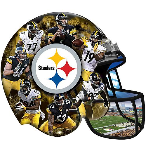 9ed58c7f99a Pittsburgh Steelers 500-Piece Helmet Puzzle