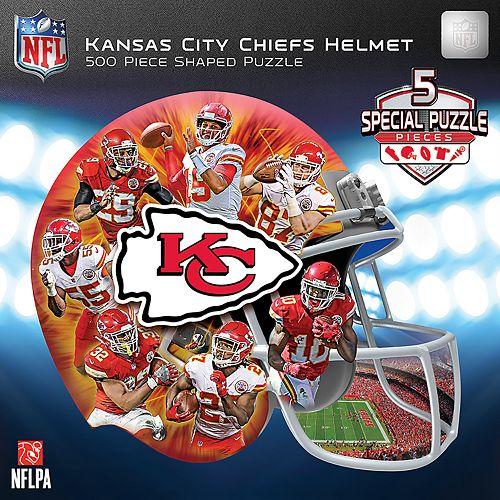 e29ea7d5e47 Kansas City Chiefs 500-Piece Helmet Puzzle