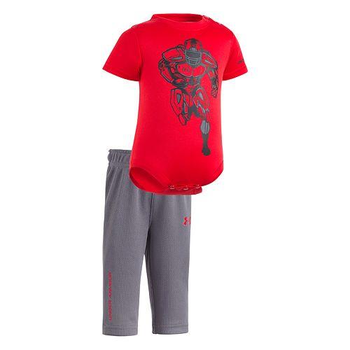 Baby Boy Under Armour Football Bodysuit & Pants Set