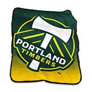 Logo Brands Portland Timbers Raschel Throw Blanket