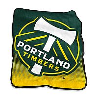 Logo Brands Portland Timbers Raschel Throw Blanket