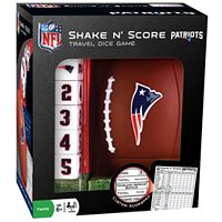New England Patriots Shake 'n' Score Travel Dice Game