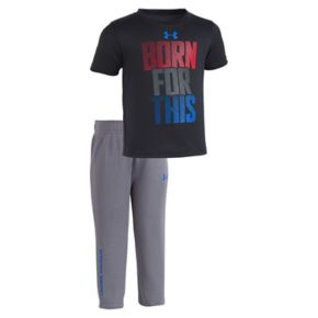 "Baby Boy Under Armour ""Born For This"" Tee & Pants Set"