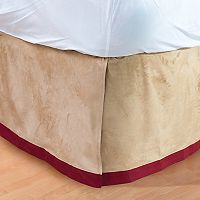 Faux Suede Bedskirt