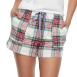 Women's SONOMA Goods for Life™ Pajamas: Nordic Nights Flannel Shorts